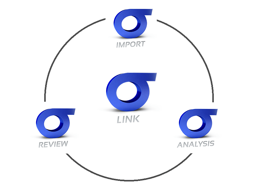 SIGMA Link software suite is composed by three modules: SIGMA Import, SIGMA Review, SIGMA Analysis
