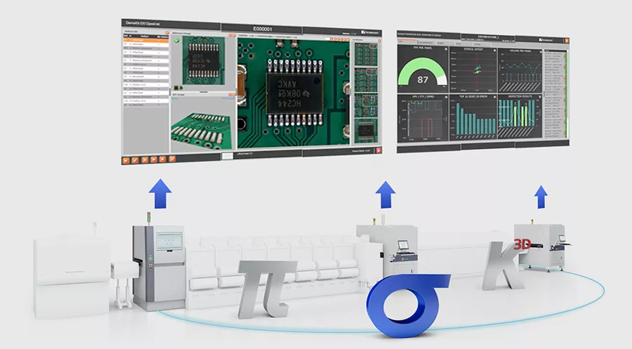 SIGMA Link software suite links altogether solder paste inspection (SPI), automated optical inspection (AOI) and manufacturing execution system (MES)