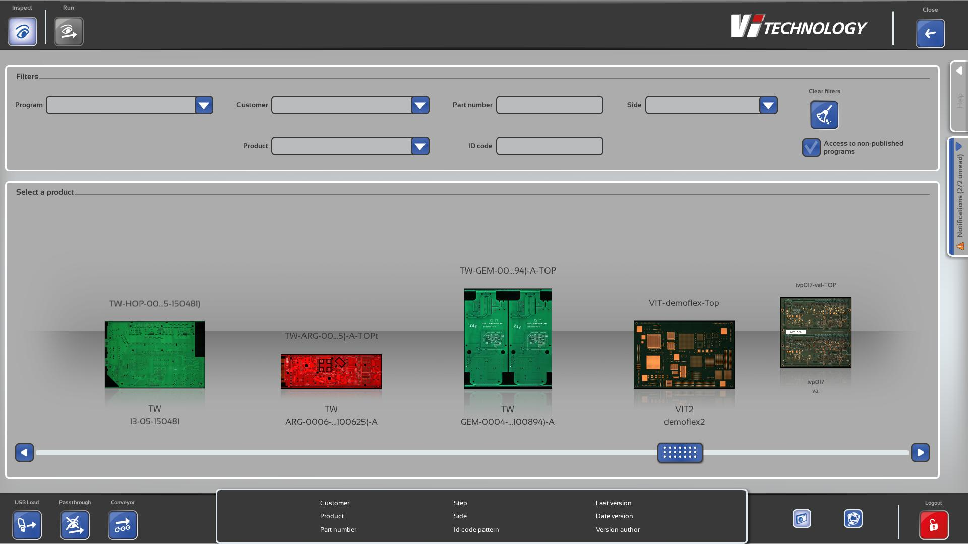 Intuitive user interface from PI Series allowing anyone to run 3D solder paste inspection
