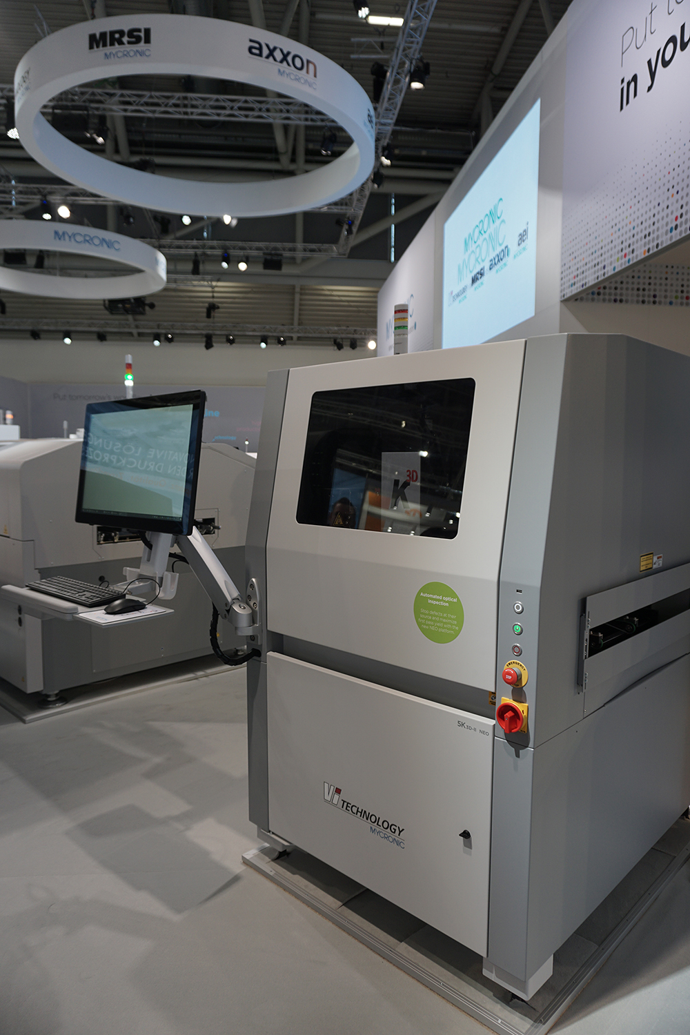 Vi TECHNOLOGY presents the new NEO platform for K series 3D AOI at Productronica